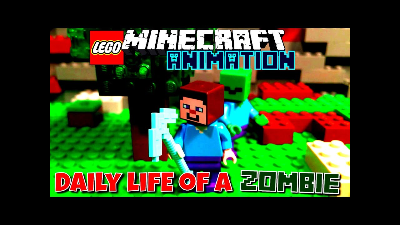 ✔️DAILY LIFE OF A ZOMBIE || Lego Stop Motion Animation - By AdventureGamingHQ (MCPE)