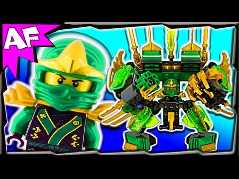 Lloyd's Green Mech - Custom Lego Ninjago Rebooted 70505 Stop Motion Review video