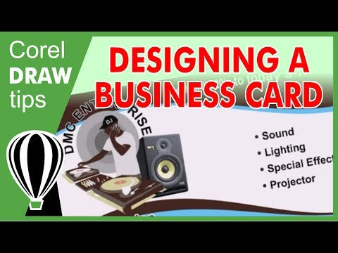 Designing Business cards in CorelDraw