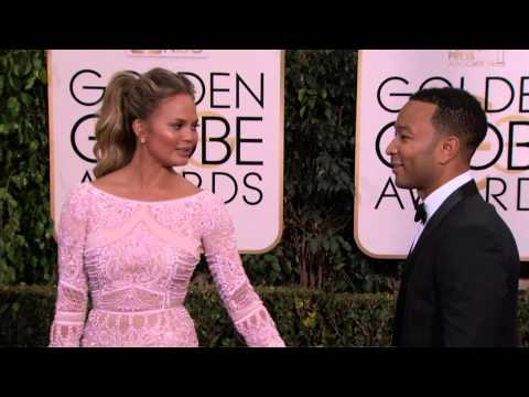 Golden Globes 2015: John legend and Chrissy Teigen Red Carpet
