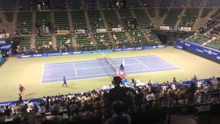 Ana Ivanovic wins her match against Lucie Safarova