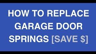 garage door springs replacement made easy diy garage repair. Black Bedroom Furniture Sets. Home Design Ideas