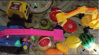 Trò chơi máy xúc múc hoa quả , trái cây lên xe ben