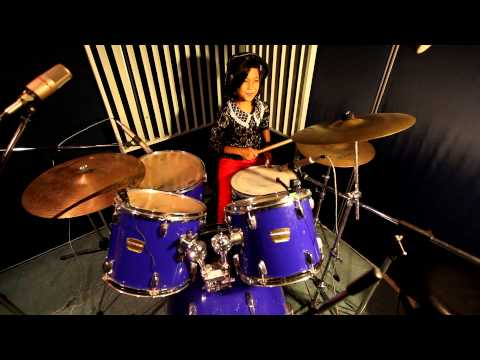 Black Veil Brides - In The End Drum Cover By Amira Syahira 10 Years Old video