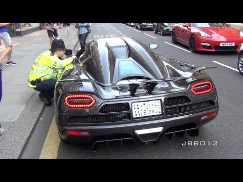 Police vs The Arab Supercars in London!