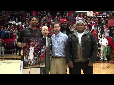 2013 Bearcats Basketball Senior Day Ceremony