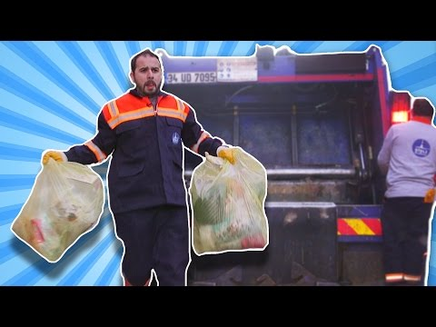 Melih Bir Günlüğüne Çöpçü Oldu |Çöp Kamyonu ile Çöp Topladı