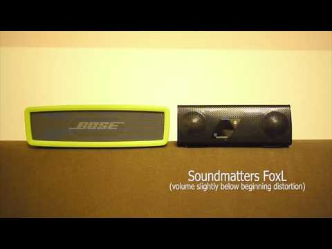 Audiotest Bose Soundlink Mini vs Soundmatters FoxL