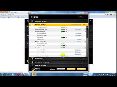 How to block all network traffic in Norton Internet Security 2011