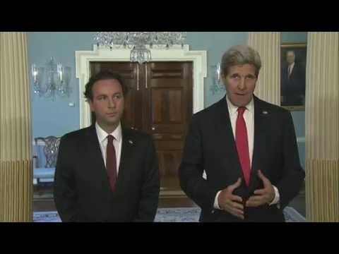 Secretary Kerry Delivers Remarks With Syrian Opposition Council President Khaled Khoja