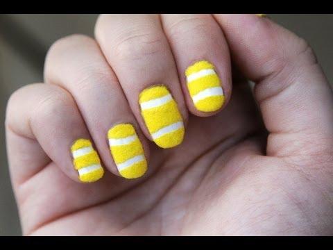 Velvet Tennisball Nails
