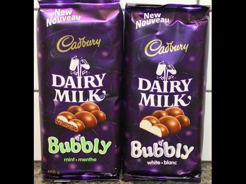 From Canada: Cadbury Dairy Milk Bubbly – Mint & White Review