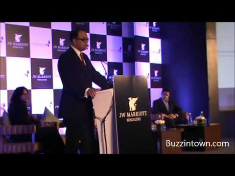 Rajeev Menon speaks at the launch of JW Marriott, Bengaluru