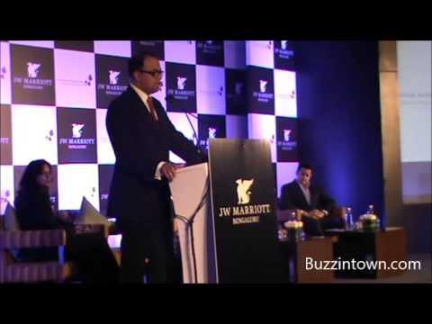 Rajeev Menon speaks at the launch of JW Marriott, Bengaluru