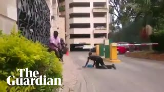 Amateur footage captures people escaping Nairobi terror attack