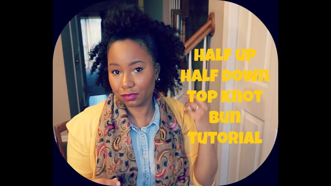 Natural Hair Half Up Half Down