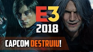 CAPCOM detonou na E3 2018! - Gameplay de RESIDENT EVIL 2 Remake e Devil May Cry 5