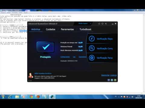Como abaixar, instalar crackear e usar o Advanced SystemCare ultimate 6.
