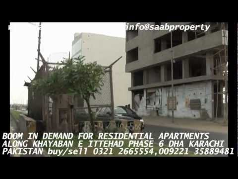 BOOM IN DEMAND FOR APARTMENTS phase 6 dha karachi pakistan DEFENCE HOUSING AUTHORITY REALESTATE