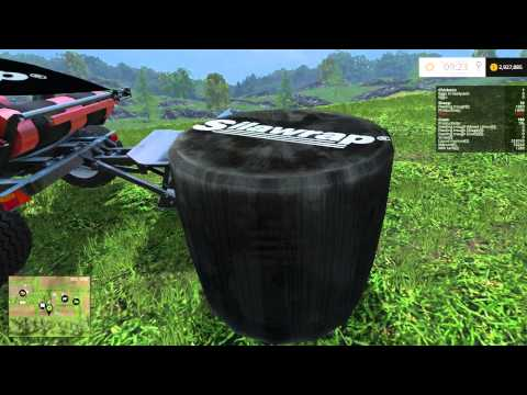 Farming Simulator 2015 Mods Mash Up - Bale wrapper