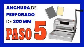 Encuadernadora de espiral manual PMA PC 300 S