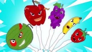 frutas assustadoras | família dedo rima | canções pré-escolare | Scary Fruits | Fruit Finger Family