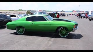 "Candy Green Chevelle Tucking 24"" Forgiato Inferno Wheels"