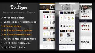 Boutique - Fashion Magento Responsive Theme | Themeforest Website Templates and Themes
