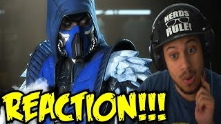 HE POSING WHILE FREEZING?! Injustice 2 - Introducing Sub-Zero! REACTION!!!