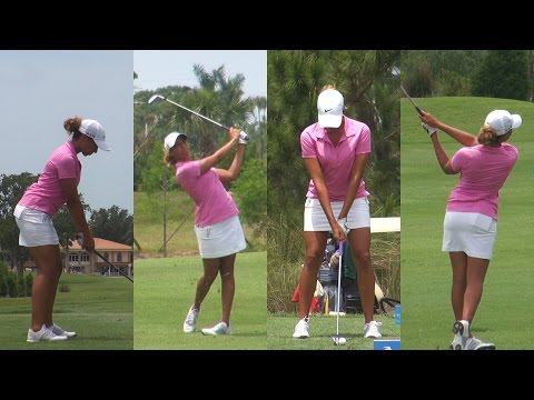 CHEYENNE WOODS (NIECE OF TIGER WOODS) - 2014 GOLF SWING FOOTAGE REGULAR & SLOW MOTION 1080p HD