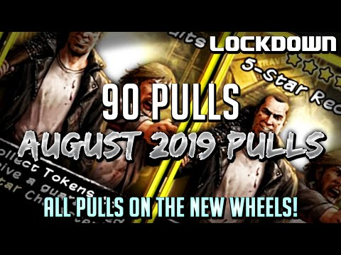 TWD RTS: 90 Pulls on New Wheels! August 2019 Token Pulls - The Walking Dead: Road to Survival
