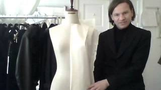 14. How to drape a dress - by bespoke tailor Sten Martin