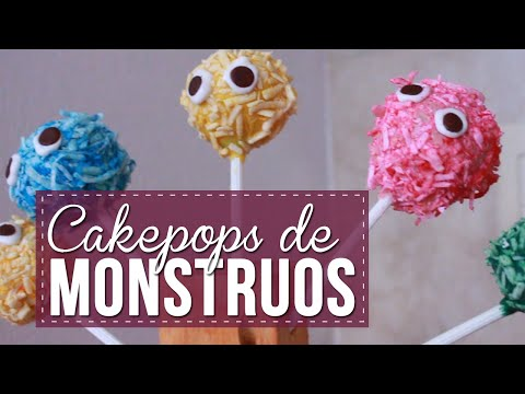 Cake pops de monstruos para Halloween - Sonia Alicia
