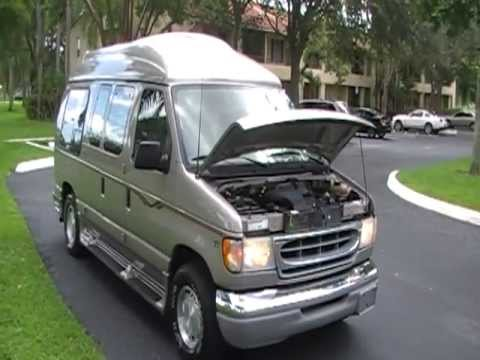 Gmc Motorhome For Sale >> 2002 FORD E-150 CONVERSION VAN HIGT TOP by LA WEST FOR SALE 954-931-5882 - YouTube