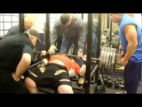 Henry Thomason Powerlifting Bench Press Training 11/23/13 - 2w out Russia Image 1