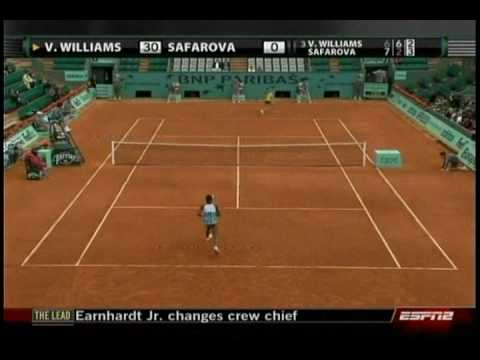 Venus Williams VS Lucie Safarova 5/10- French Open 2009- 2nd Round Video