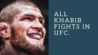 Khabib nurmagomegov all UFC fights HD