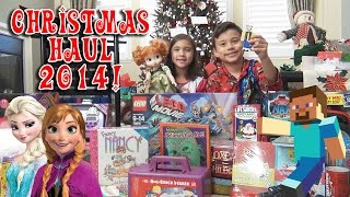CHRISTMAS HAUL 2014!!! Minecraft, Frozen, LEGO, My Little Pony! What We Got For Christmas!