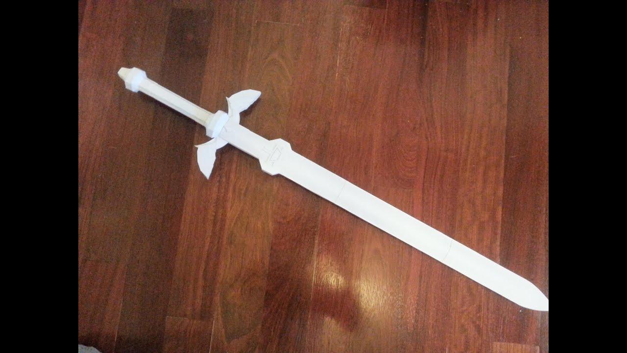 Как сделать из бумаги маленький меч