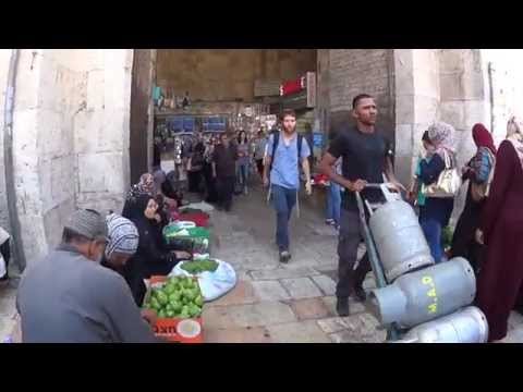 Passing through Damascus Gate, the Old City of Jerusalem