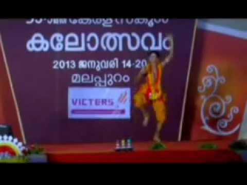 Sooraj Surendran Perfoming Folk Dance In 53rd Kerala School Kalolsavam video