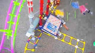KNEX tube supported coaster FLAME test one