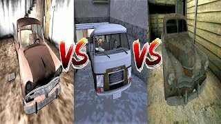 Granny's Car vs Evil Nun's Car vs Head Horse's Car || Escape Battle || Horror Game - 그래니vs이블넌vs말머리괴물