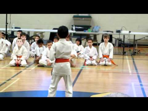 Daniel's 1st Kata at 2012 Ontario Chito-Ryu Karate Tournament Image 1