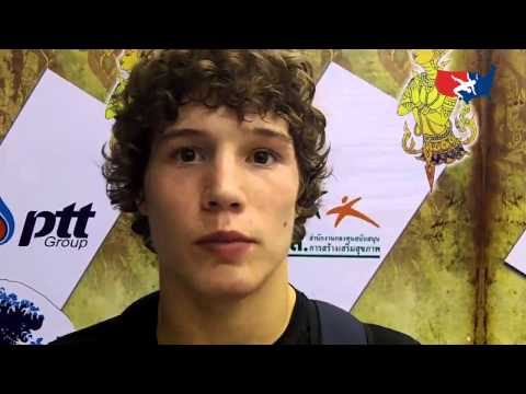 Alex Dieringer after Junior Worlds