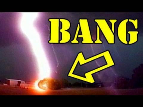 Lightning Strike Close Up - Birth of Chuck Norris