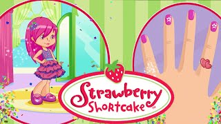 Strawberry Shortcake Berry Beauty Salon Movie Video Game - Raspberry Torte Nail Decoration