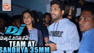 Allu Arjun at Sandhya Theater to watch Duvvada Jagannadham Movie (DJ)
