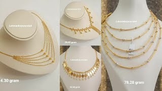 Latest Gold Chain Necklace Designs with Weight
