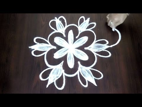Simple Competitions Rangoli 3 x 2  ||  Easy Chukkala Muggulu Design || Fashion World